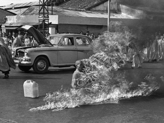 Burning Buddhist monk, 1963