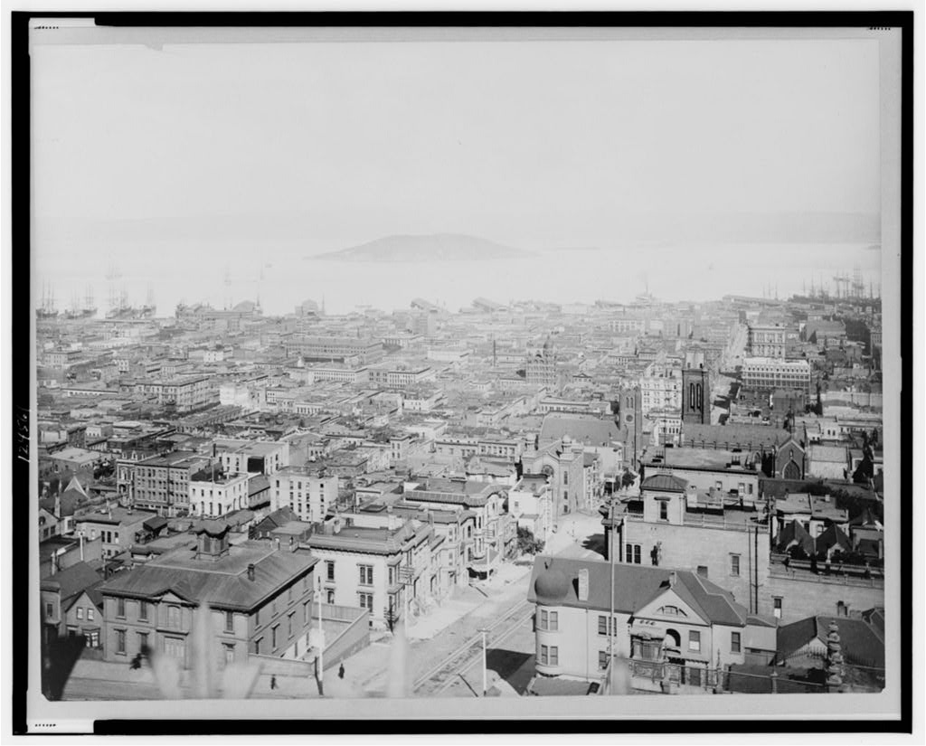 old photo of San Fransisco 1895