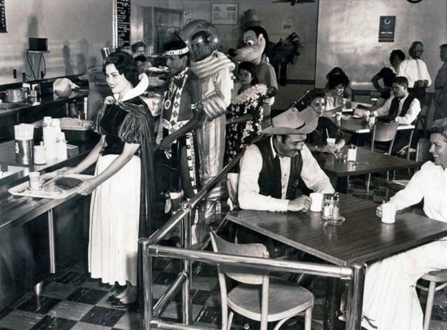 Retro photo of Disneyland canteen