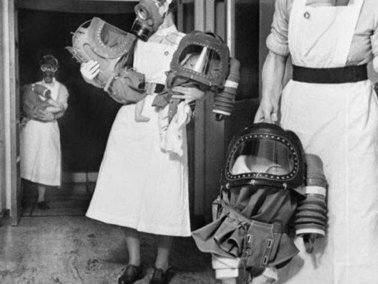 Baby gas respirators in 1940