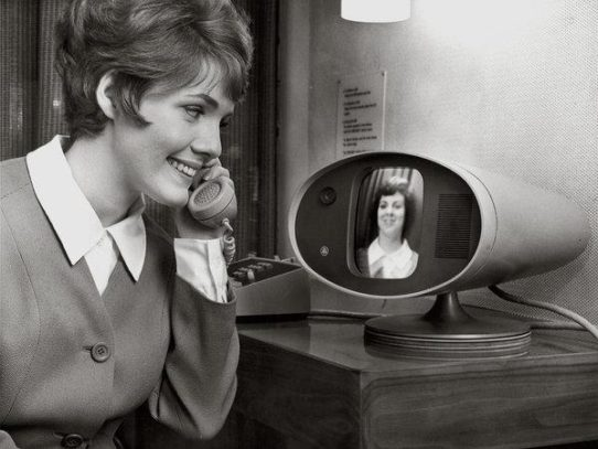 First public video phone. New York, 1964