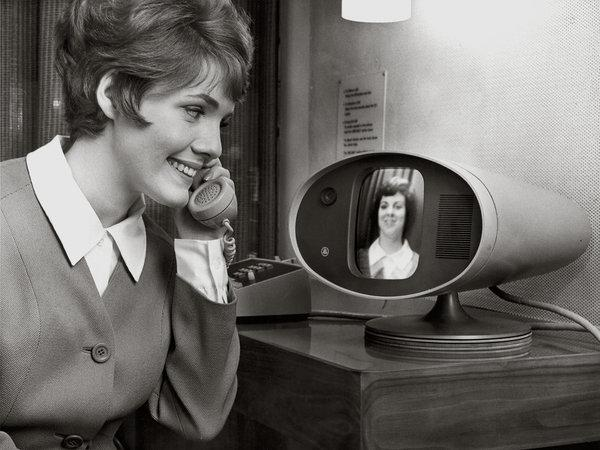 Old photo of first public video phone