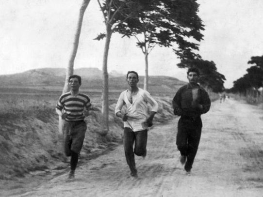 Training for the first modern Olympic games in 1896