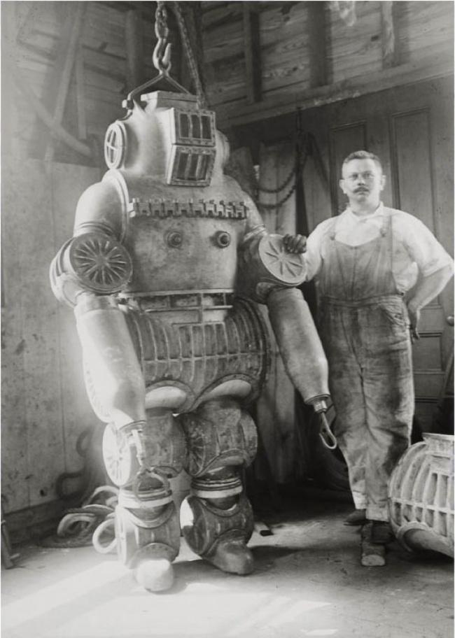 vintage retro diving suit