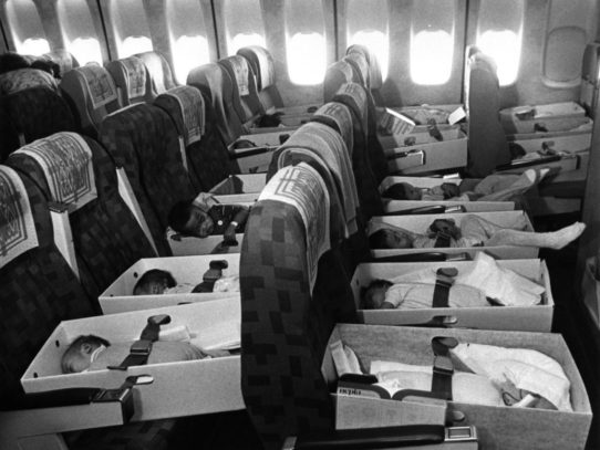 """Operation Babylift"". Babies evacuated from Vietnam, 1975"