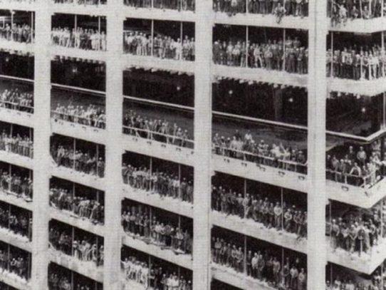 Chase Manhattan Bank construction. New York, 1964