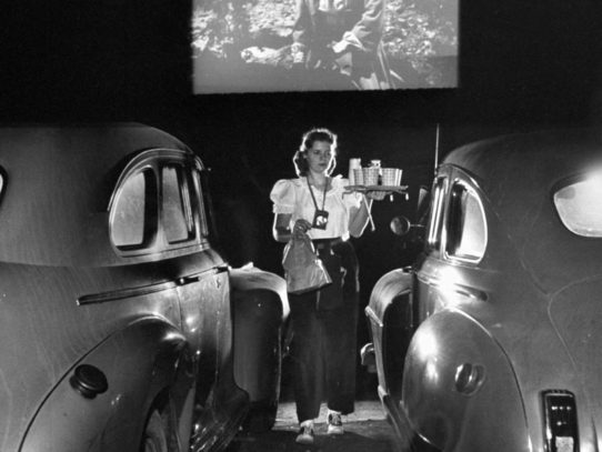 Drive-in theater, San Francisco, 1948