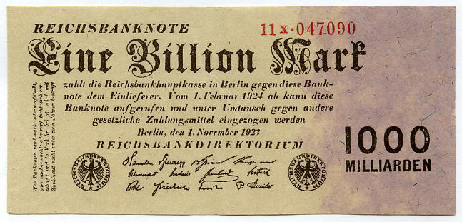 This kind of banknotes caused the hyperinflation in Germany
