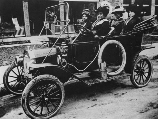 1910. Madam C.J. Walker driving her Ford Model T