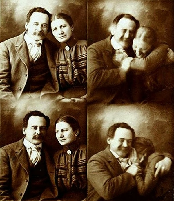 Victorian people could smile on their family portraits!