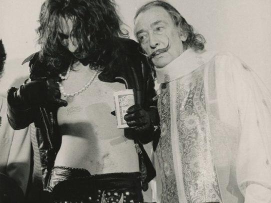 Alice Cooper and Salvador Dali, New York, 1973
