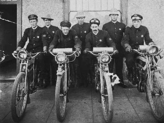 Police officers on motorcycles, San Diego, 1912