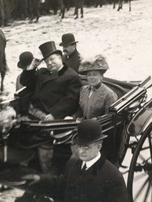 The 27th President  of the United States Taft and First Lady, inaugural parade, 1909