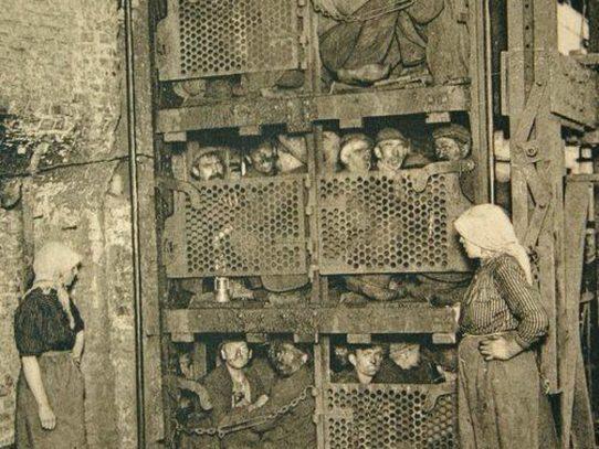 Belgian miners, 1900