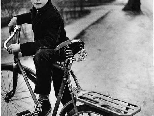 Baltic boy with a bicycle, 1960s