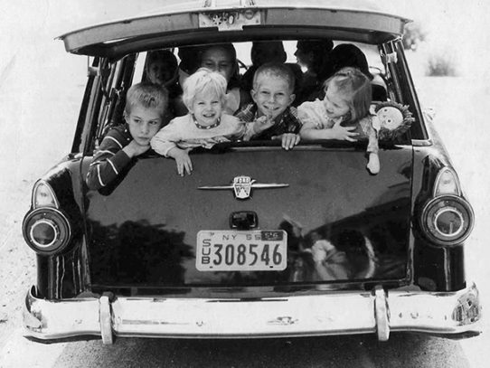 Car seats or seatbelts in '60s? No. We haven't heard