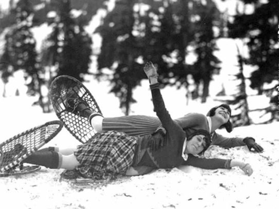 Girls on Mt. Baker, Washington, 1930s