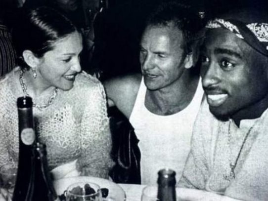 Madonna, Sting and Tupac Shakur in Los Angeles, 1993