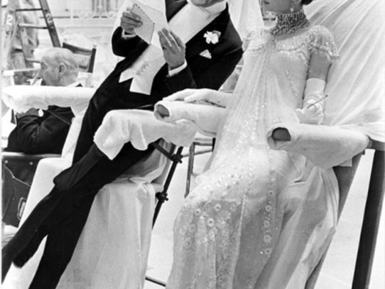 Rex Harrison and Audrey Hepburn when filming My Fair Lady in the 1960s