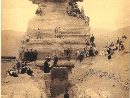 Sphinx Excavation, circa 1850