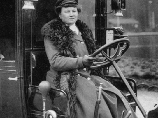 First female taxi driver in France Madame Decourcelle, Paris, 1909