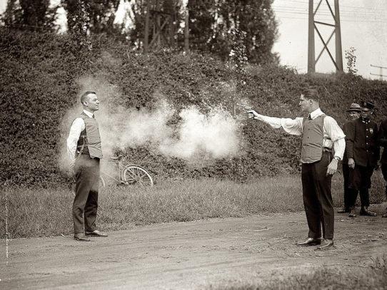 Bulletproof vest testing, 1923
