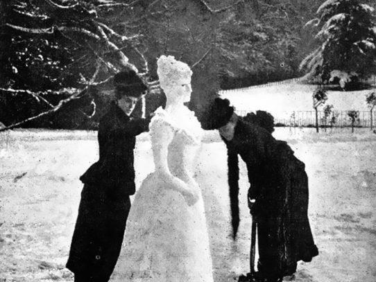 Victorian snow woman, 1892
