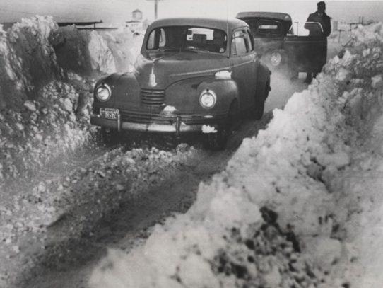 Cars in a Snow Drift, Kansas, 1948