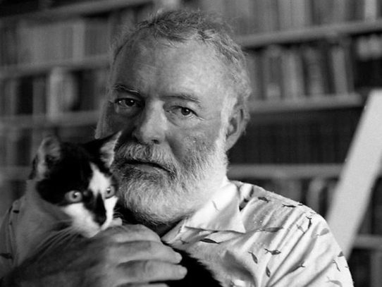 Ernest Hemingway and His Cats