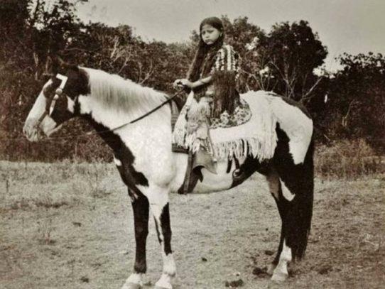 Kiowa girl at Fort Sill, Oklahoma, circa 1890s