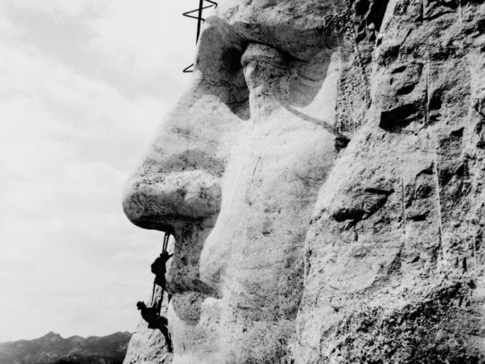 George Washington's Head Construction, Mount Rushmore, 1932