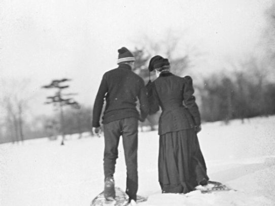 Snowshoeing, Ontario, 1907