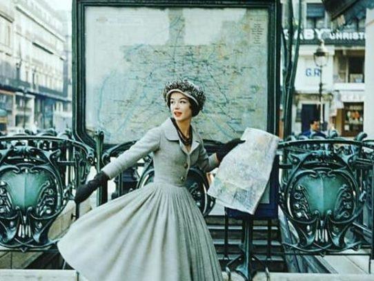 Model in Dior's Dress, Paris, 1957