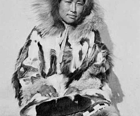 Eskimo woman in fur parka,  1899