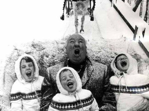 Alfred Hitchcock With His Grandchildren, 1960