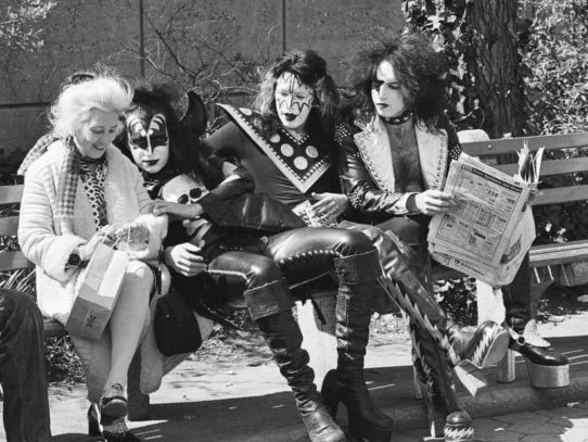 Gene Simmons, Ace Frehley and Paul Stanley in Central Park, New York City, 1974