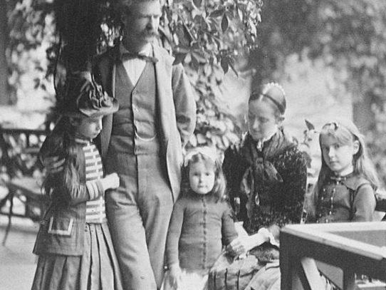 Mark Twain With His Family, 1884