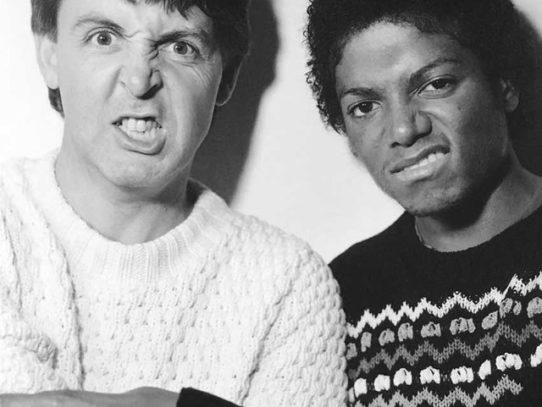 Paul Mccartney and Michael Jackson, 1980