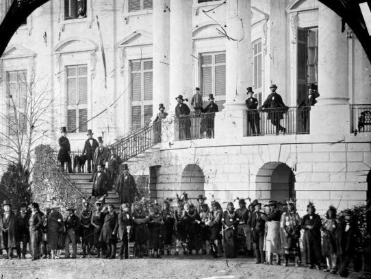 The first picture of Native Americans at the White House, 1857