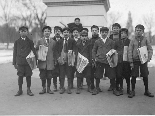 Newsboys, Connecticut, 1909