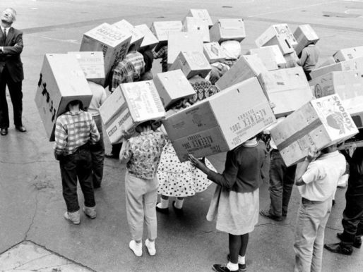 Waiting for the Solar Eclipse, Illinois, 1963