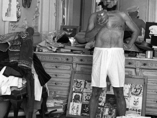 Pablo Picasso Poses as Popeye, Cannes, 1957