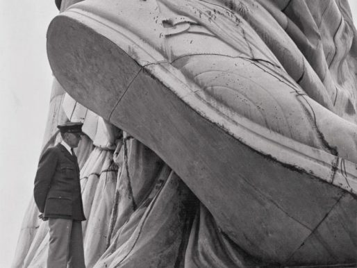 Under the heel of the Statue of Liberty, 1937