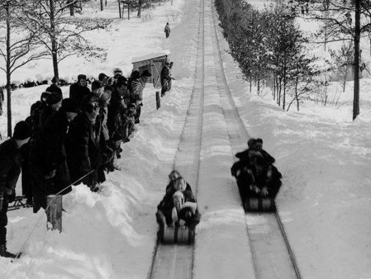 The Toboggan Slides, Michigan, 1941