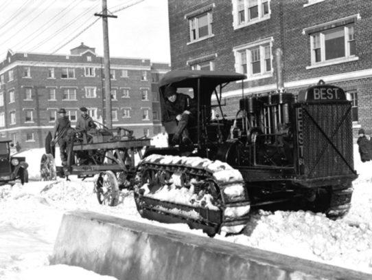 Snowplow at Work, Seattle, 1923