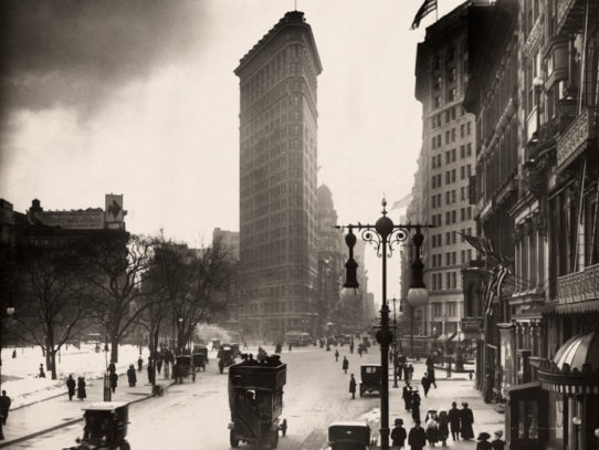 Madison Square near the Flatiron Building, New York City, 1918