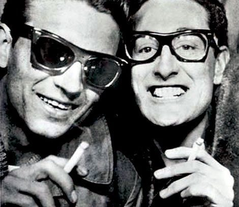 Waylon Jennings and Buddy Holly, 1959