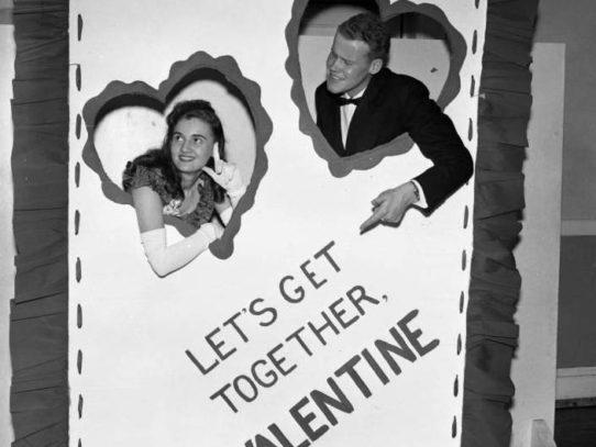 Couple at a Valentine's Day Dance Greensboro, North Carolina,1940s