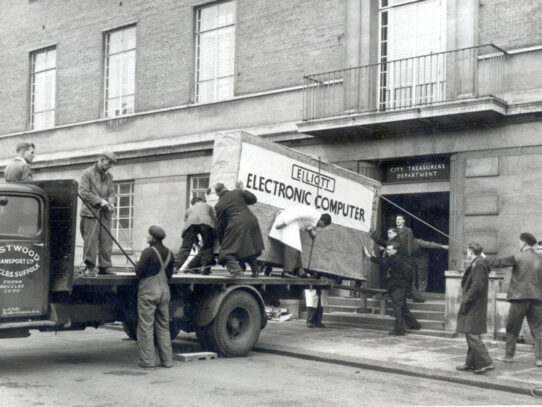 Delivering a Computer in 1957