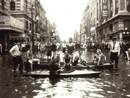 Flooding in Norfolk, Virginia after 1933 Chesapeake–Potomac hurricane